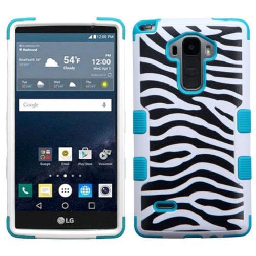 Insten Tuff Zebra Hard Dual Layer Silicone Case For LG G Stylo LS770 - Black/White