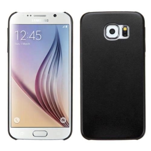 Insten Hard Rubber Coated Cover Case For Samsung Galaxy S6 - Black