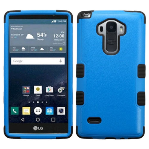 Insten Tuff Hard Dual Layer Rubber Silicone Cover Case For LG G Stylo LS770 - Blue/Black