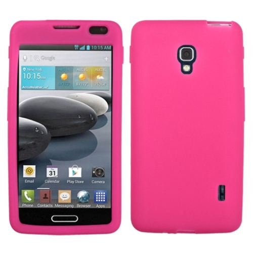Insten Skin Rubber Case For LG Optimus F6 MS500 - Pink