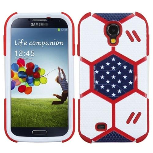 Insten Fitted Hard Shell Case for Samsung Galaxy S4 - White;Red;Blue