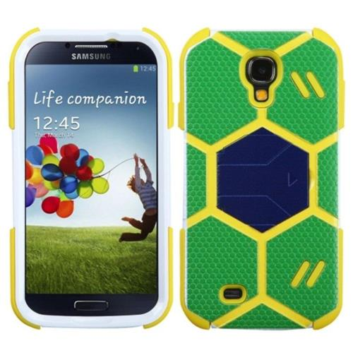 Insten For Samsung Galaxy S4/S4 (LTE version) Green Goalkeeper Hard Hybrid Case w/stand