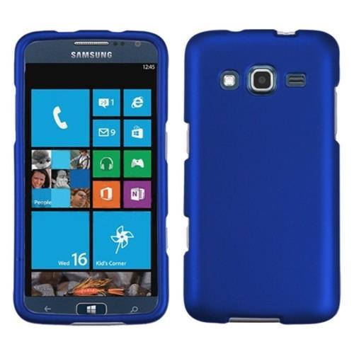 Insten Hard Rubberized Case For Samsung Ativ S Neo - Dark Blue