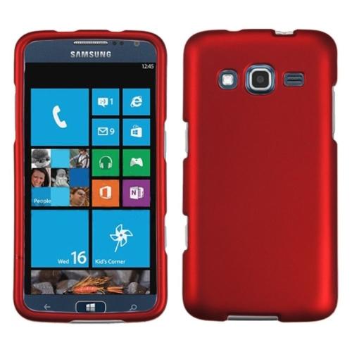 Insten Hard Rubber Case For Samsung Ativ S Neo - Red