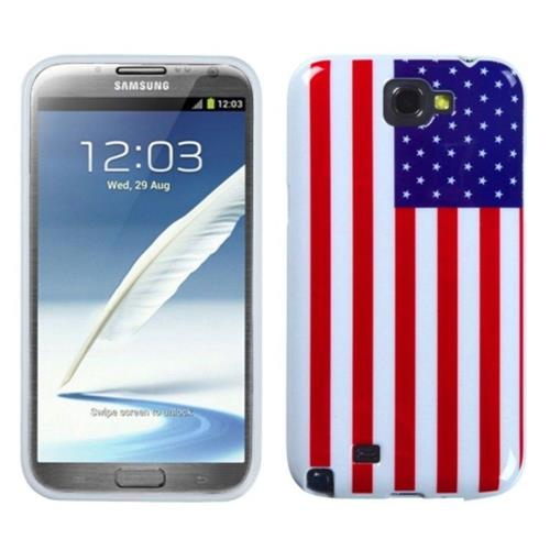 Insten US National Flag Rubber Case For Samsung Galaxy Note II
