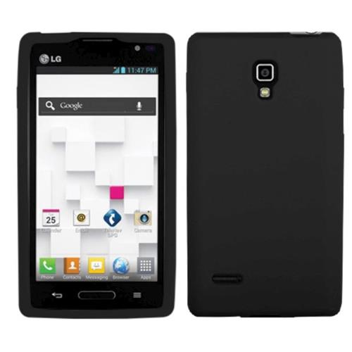Insten Soft Rubber Cover Case For LG Optimus L9 P769 - Black