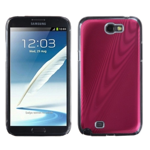 Insten Cosmo Aluminum Metallic Hard Case For Samsung Galaxy Note II - Red/Clear