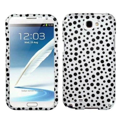 Insten Polka Dots Hard Case For Samsung Galaxy Note II - White/Black