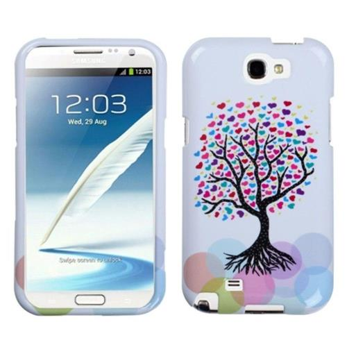 Insten Love Tree Hard Plastic Case For Samsung Galaxy Note II - Colorful/White