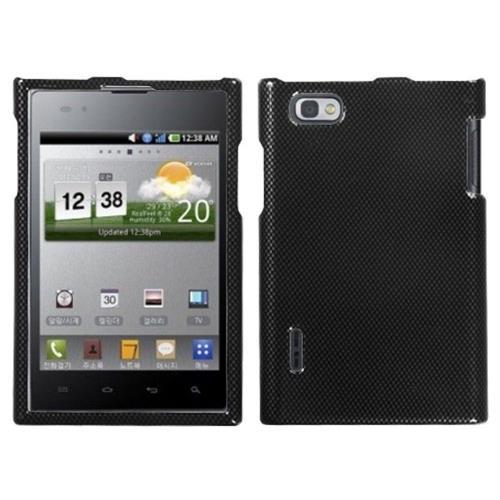 Insten Carbon Fiber Hard Case For LG Intuition VS950 - Black