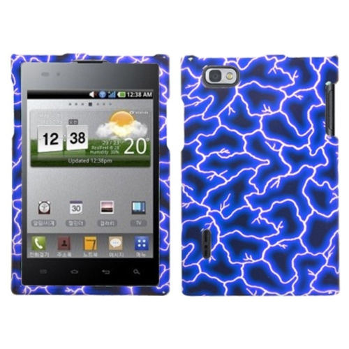 Insten Lightning Hard Cover Case For LG Intuition VS950 - Blue