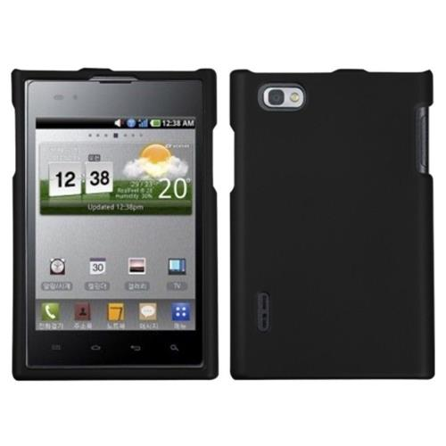 Insten Hard Rubber Coated Cover Case For LG Intuition VS950 - Black
