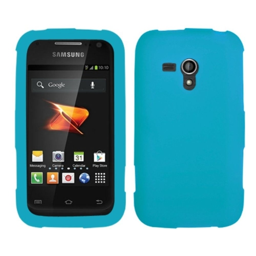 Insten Skin Rubber Cover Case For Samsung Galaxy Rush - Blue