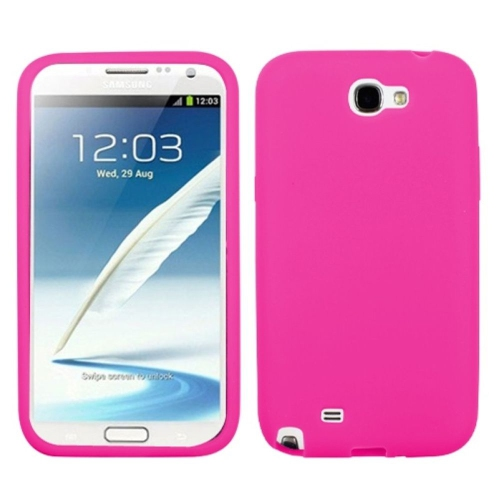 Insten Skin Rubber Case For Samsung Galaxy Note II - Pink