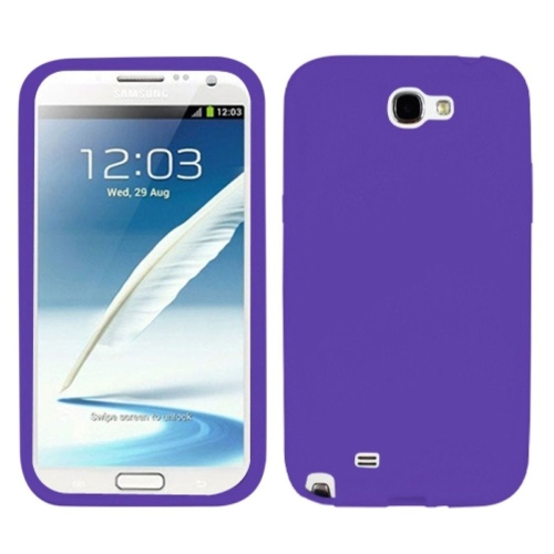 Insten Rubber Case For Samsung Galaxy Note II - Purple