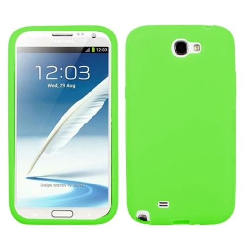 Insten Rubber Cover Case For Samsung Galaxy Note II - Green