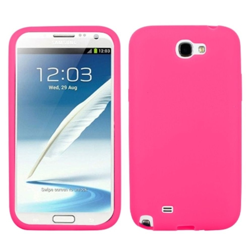 Insten Rubber Case For Samsung Galaxy Note II - Pink