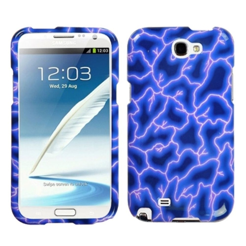 Insten Lightning Hard Cover Case For Samsung Galaxy Note II - Blue