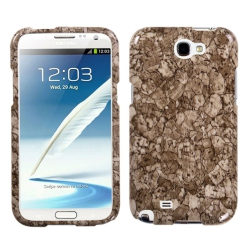 Insten Stone Vein Hard Case For Samsung Galaxy Note II - Brown