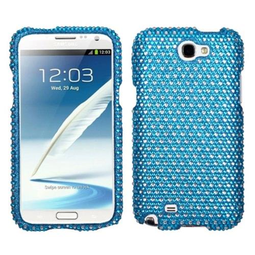Insten Dots Hard Diamante Case For Samsung Galaxy Note II - Blue/White