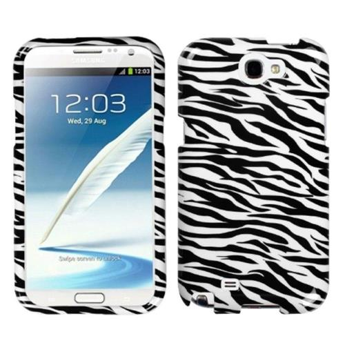Insten Zebra Hard Cover Case For Samsung Galaxy Note II - Black/White