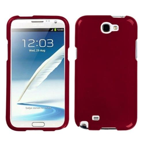 Insten Hard Case For Samsung Galaxy Note II - Red