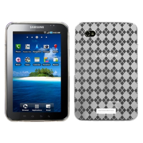 Insten Argyle Rubber Cover Case For Samsung Galaxy Tab 7.0 - Clear