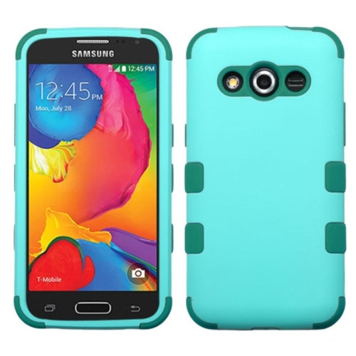 Insten Tuff Hard Dual Layer Rubber Coated Silicone Case For Samsung Galaxy Avant - Teal