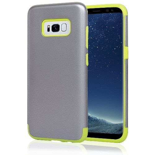 Navor Galaxy S8 Heavy Duty Shockproof TPU Hybrid Dual Layer Bumper Case-Sliver