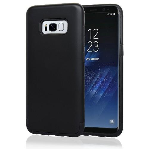 Navor Samsung Galaxy S8 Plus Heavy Duty Shockproof TPU Hybrid Dual Layer Bumper Case- Black