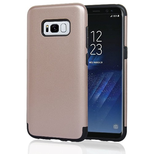Navor Samsung Galaxy S8 Plus Heavy Duty Shockproof TPU Hybrid Dual Layer Bumper Case- Rose Gold