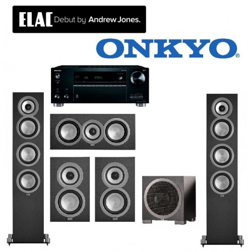 Elac 5.1 Uni-fi Series Hi-Fi Package with Onkyo 7.2 Channel Network A/V Receiver