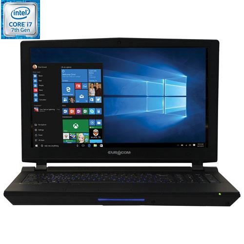 "EUROCOM Sky X4E2 15.6"" Gaming Laptop - Black (Intel Core i7-7700K / 1TB HDD / 16GB RAM / Windows 10)"