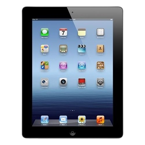iPad 4 Wifi + 4G Unlocked Retina Display 9.7 in 4th Generation 32GB Black, Refurbished