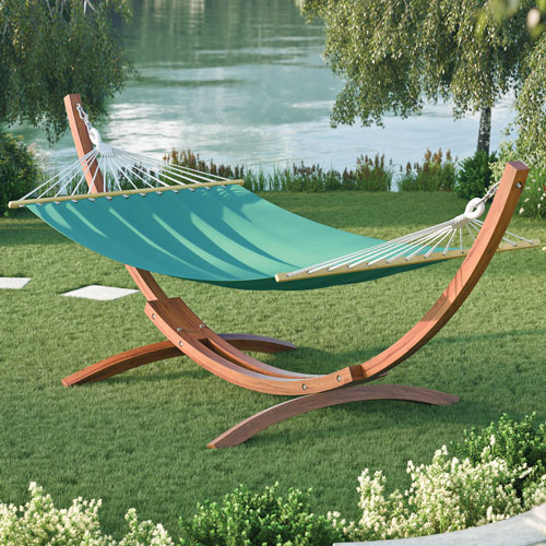 Wood Canyon Hammock With Stand Cinnamon Brownteal Hammocks