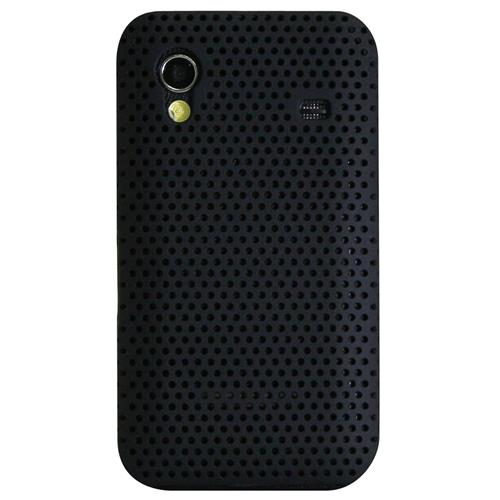 Exian Samsung Galaxy Ace Soft Plastic Case Net Pattern Black