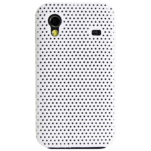 Exian Samsung Galaxy Ace Soft Plastic Case Net Pattern White