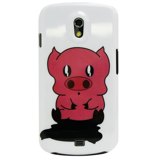 Exian Samsung Galaxy Nexus Hard Plastic Case Exian Design Piggy on White
