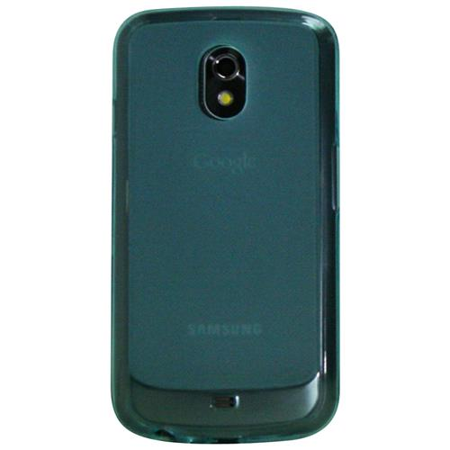 Exian Samsung Galaxy Nexus Silicone Case Frosted Transparent Blue
