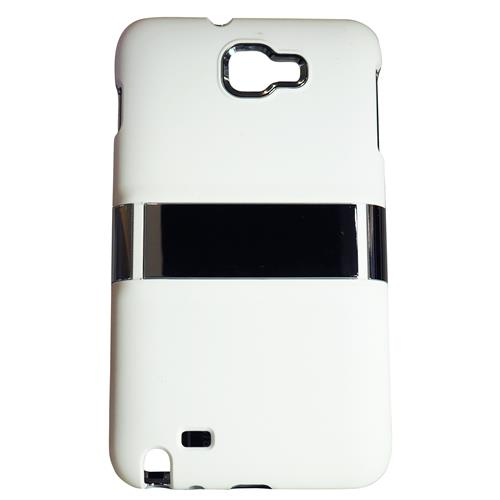 Exian Samsung Galaxy Note Hard Plastic Case with Stand White
