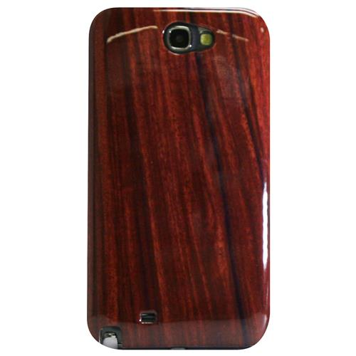 Exian Samsung Galaxy Note 2 Hard Plastic Case Exian Design Wood Pattern Brown