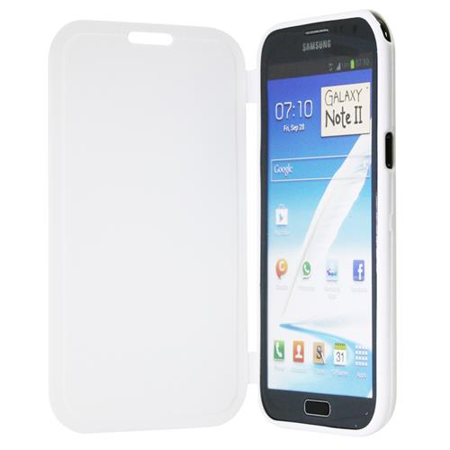 Exian Samsung Galaxy Note 2 TPU Case with Front Cover White