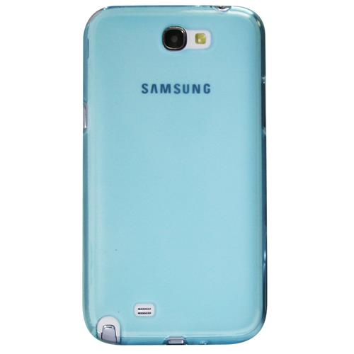 Exian Samsung Galaxy Note 2 TPU Case Frosted Transparent Blue