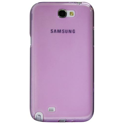 Exian Samsung Galaxy Note 2 TPU Case Frosted Transparent Purple