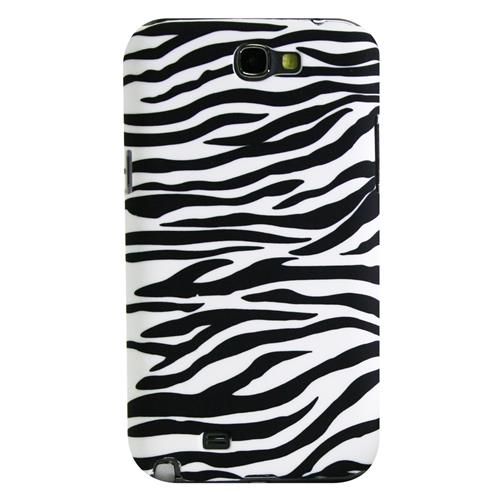 Exian Samsung Galaxy Note 2 Hard Plastic Case Zebra Pattern