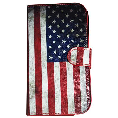 Exian Samsung Galaxy Note 2 PU Leather Wallet American Flag