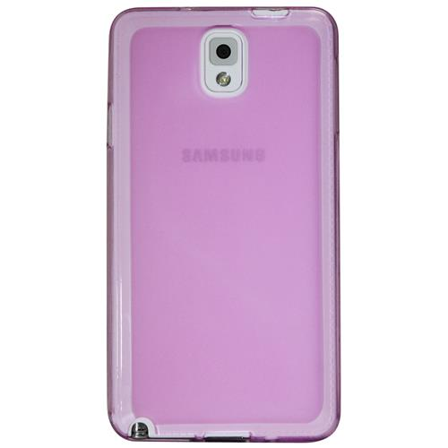 Exian Samsung Galaxy Note 3 TPU Case Frosted Transparent Purple
