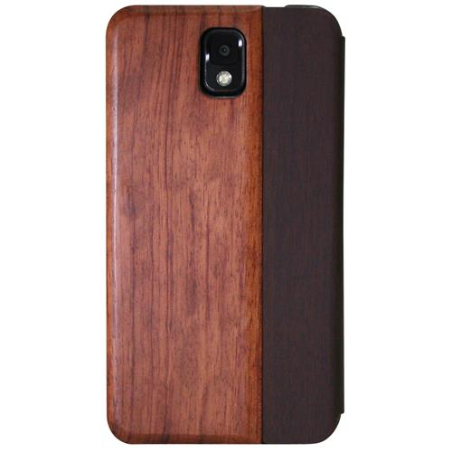 Exian Samsung Galaxy Note 3 Real Wood Wallet Brown