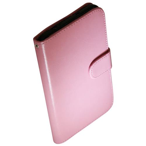 Exian Samsung Galaxy Note 3 PU Leather Wallet Pink