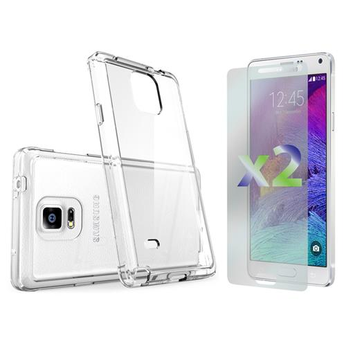 Exian Samsung Galaxy Note 4 TPU Slim Case Transparent Clear